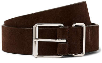 Andersons Anderson's 3.5cm Dark-Brown Suede Belt