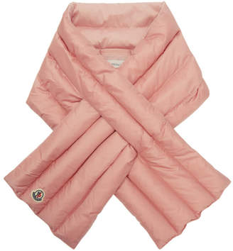 Moncler Pink Down Quilted Scarf