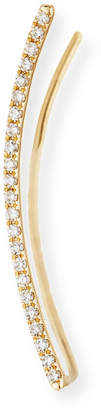 Ef Collection 14K Gold & Diamond Bar Cuff Earring - Right