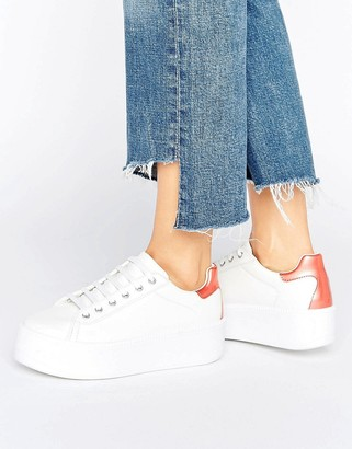 ASOS DUSKY Chunky Platform Lace Up Sneakers $45 thestylecure.com