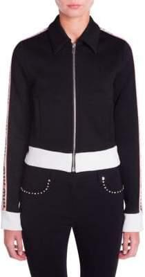 Miu Miu Logo Tracksuit Jersey Jacket