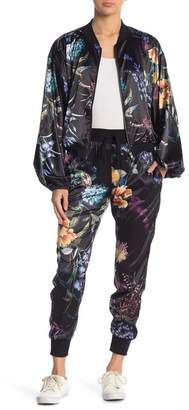 On The Road Kenna Floral Satin Jogger Pants