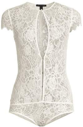 Kiki de Montparnasse Coquette Lace Keyhole Bodysuit