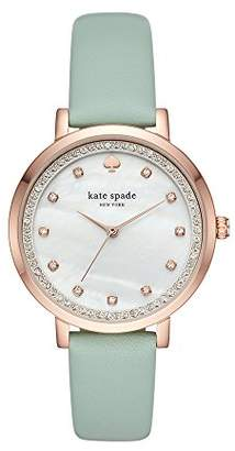 Kate Spade Women's 'Monterey' Quartz Stainless Steel and Leather Casual Watch