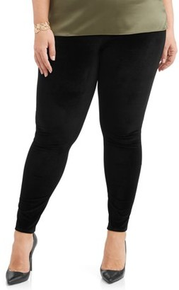 Terra & Sky Women's Plus Size Full Length Super Soft Jegging