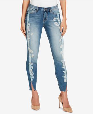 Vintage America Petite Wonderland Printed Skinny Ankle Jeans