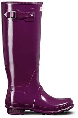 Hunter Tall Gloss Welly - Purple