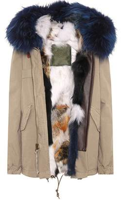 Mr & Mrs Italy Exclusive to mytheresa.com – Mini fur-lined cotton parka