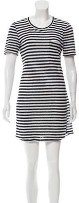 A.L.C. Stripped Linen Mini Dress