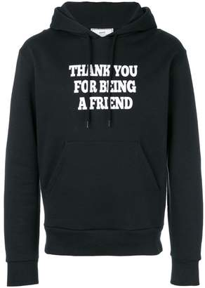 Ami Alexandre Mattiussi Hoodie With Print Thank You For Being A Friend
