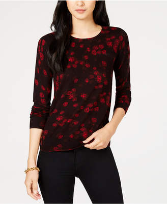 Michael Kors Floral-Print Sweater