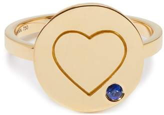Aurelie Bidermann FINE JEWELLERY Heart sapphire & yellow-gold ring