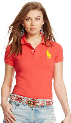 Polo Ralph Lauren Skinny-Fit Big Pony Polo Shirt $98.50 thestylecure.com