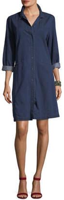 Eileen Fisher Tencel® Organic Cotton Denim Collared Dress, Plus Size