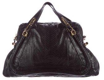 Chloé Chloé Large Matte Python Paraty Bag