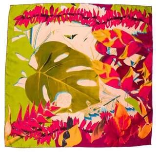 Christian Lacroix Printed Silk Scarf Lime Printed Silk Scarf