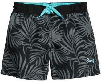 H&M Patterned Swim Shorts - Black