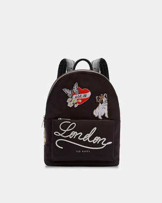 Ted Baker SOFIAAH Slogan applique nylon backpack