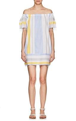Lemlem Women's Mimi Striped Cotton Off-The-Shoulder Dress