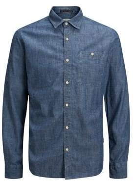 Jack and Jones Woven Denim Button-Down Shirt