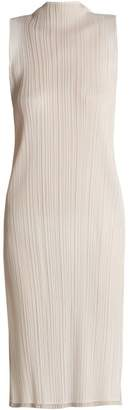 Pleats Please Issey Miyake Sleeveless Pleated Dress - Womens - White