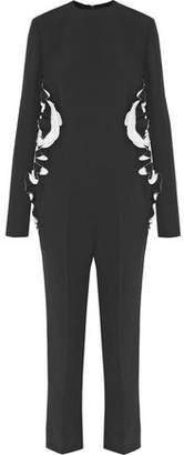 Haider Ackermann Two-Tone Ruffle-Trimmed Crepe Jumpsuit