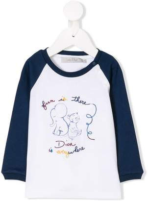 Christian Dior embroidered top