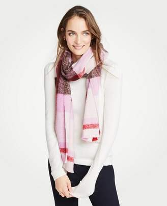 Ann Taylor Brushed Plaid Blanket Scarf