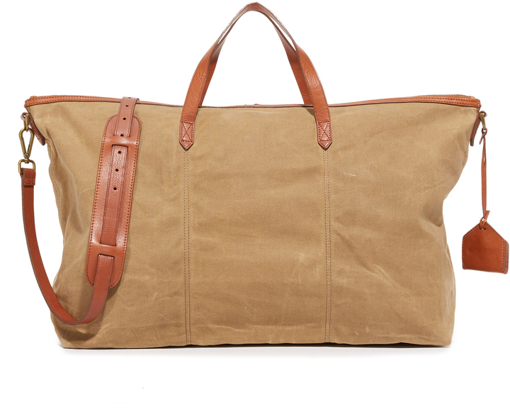 Madewell Canvas Transport Weekender Bag