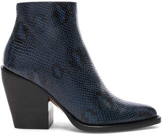Chloé Rylee Python Print Leather Ankle Boots