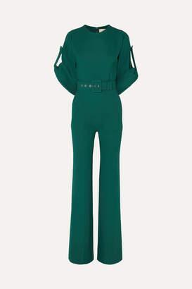 Antonio Berardi Belted Crepe Jumpsuit - Green