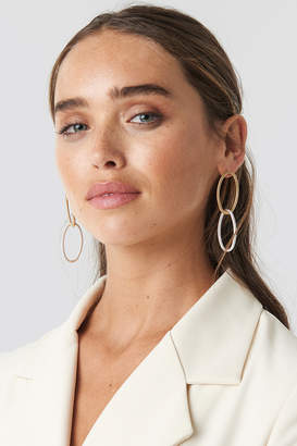 Na Kd Accessories Slim Chained Hoop Earrings Gold/Silver