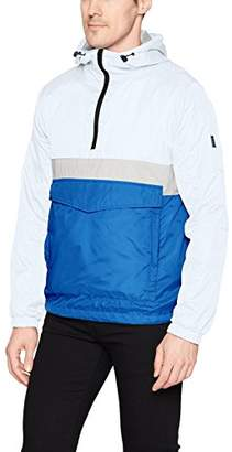 Southpole Men's Anorak Colorblock Water Resistance Hooded Pullover