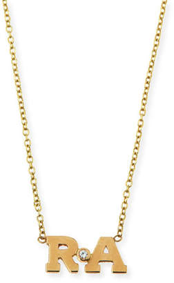 Chicco Zoe Two-Letter Pendant Necklace with Diamond