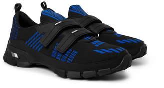 Prada Trail Rubber-Trimmed Mesh Sneakers