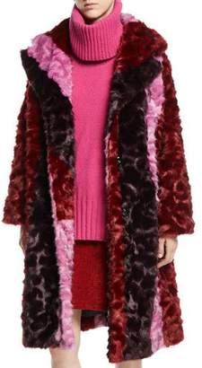 McQ Volume Colorblock Faux-Fur Coat