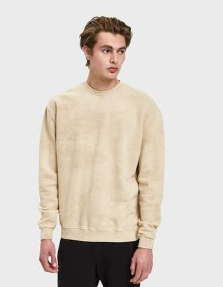 Oversized Crewneck Pullover in Marble Tan