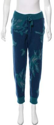 Baja East Cashmere Printed Pants