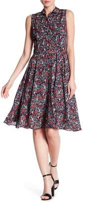 Nanette Lepore NANETTE Pleated Floral Print Dress