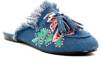 Elegant Footwear Aubree Embroidered Slipper