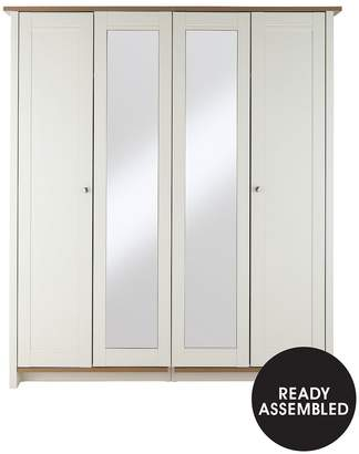 Consort Furniture Limited Tivoli 4-Door Mirrored Wardrobe