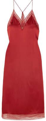 Jonathan Simkhai Lace-trimmed Satin Midi Dress - Red