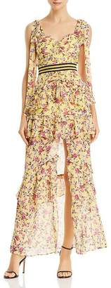 For Love & Lemons Maison Floral Maxi Dress