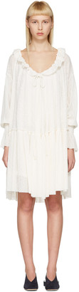See by Chloé Off-White Gauze Jersey Dress $450 thestylecure.com