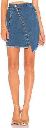 by the way. Katie Denim Moto Skirt.