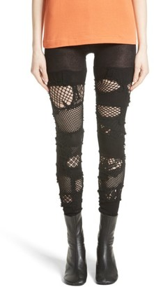 Women's Junya Watanabe Patchwork Leggings $740 thestylecure.com