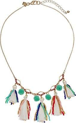 Rebecca Minkoff Women's Geo Multi Tassel Short Necklace