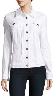 Basler Women's Solid Cotton-Blend Jacket