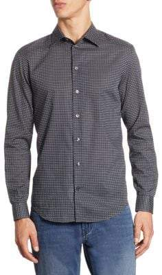 Armani Collezioni Patterned Cotton Button-Down Shirt