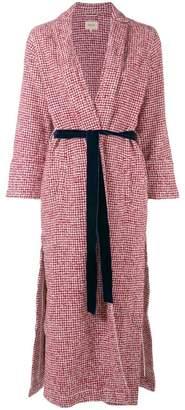 Bellerose herringbone belted coat